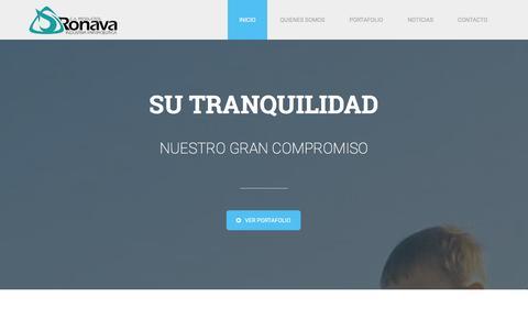 Screenshot of Home Page ronava.com - Laboratorios Ronava - captured Feb. 1, 2016