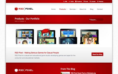Screenshot of Products Page r3dpixel.com - Products Archive « R3D Pixel R3D Pixel - captured Oct. 26, 2014