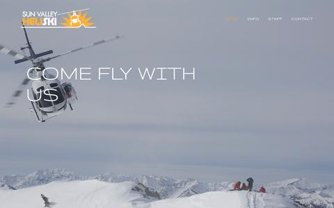 Screenshot of Home Page sunvalleyheliski.com - Sun Valley Heli Ski - captured Dec. 17, 2016