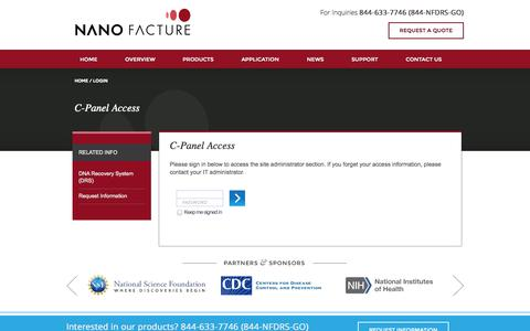 Screenshot of Login Page nano-facture.com - Please log in - captured Oct. 6, 2014