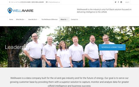 Screenshot of Team Page wellaware.us - Leadership - WellAware - captured Oct. 28, 2017