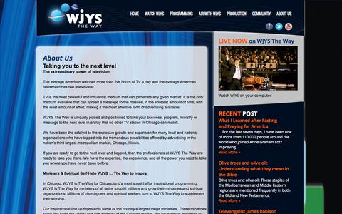 Screenshot of About Page wjys.tv - About Us | WJYS the way - captured Oct. 3, 2014