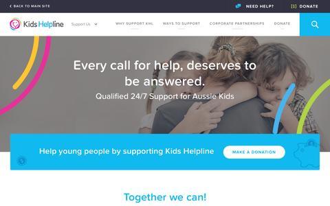 Screenshot of Support Page kidshelpline.com.au - Get Involved | Kids Helpline | 1800 55 1800 - captured June 28, 2016