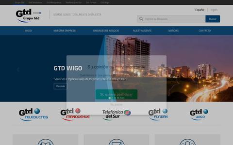 Screenshot of Home Page grupogtd.com - Grupo Gtd - Inicio - captured July 19, 2016