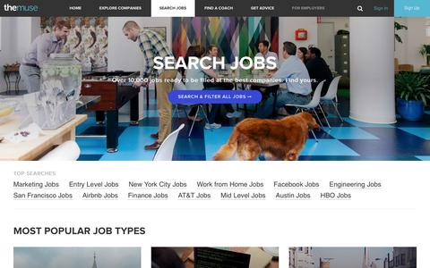 Job Search | Find The Best Jobs To Work For At The Muse