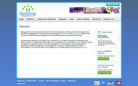 Screenshot of Jobs Page buildingratings.com.au - CBD   Nabers Rating   Nabers Ratings   Building Rating   Building Ratings - captured Oct. 5, 2014