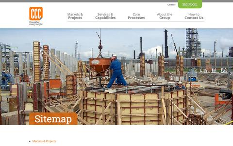 Screenshot of Site Map Page cccnetwork.com - Sitemap - Commercial Contracting Corporation - captured Jan. 30, 2016
