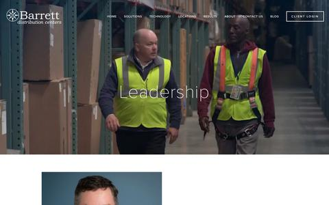 Screenshot of Team Page barrettdistribution.com - Leadership — Barrett Distribution - captured Feb. 13, 2019