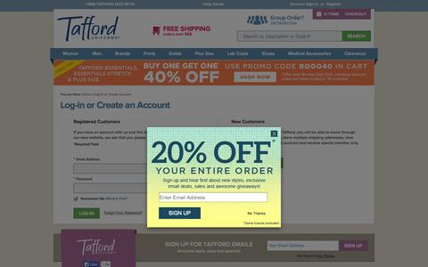 Screenshot of Login Page tafford.com - Customer Login - captured Sept. 19, 2014