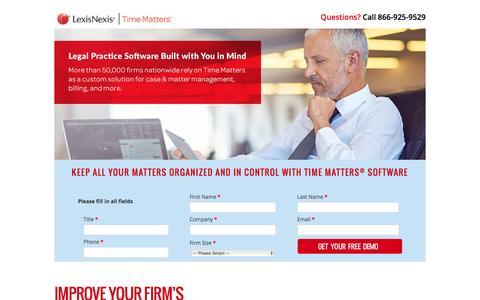 Screenshot of Landing Page lexisnexis.com - Time Matters® - captured June 16, 2016