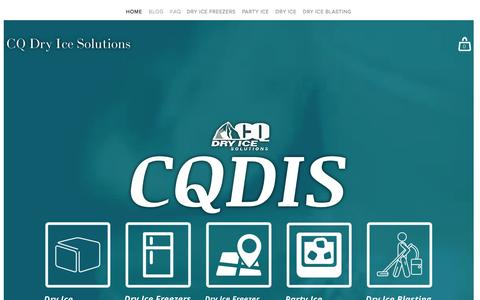 Screenshot of Home Page cqdis.com.au - CQ Dry Ice Solutions - captured Oct. 9, 2016