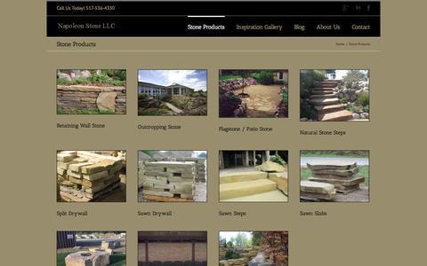 Screenshot of Products Page napoleonstone.com - Landscape Stone|Stone Supplier|Flagstone|Landscape Ideas|Michigan - captured Oct. 27, 2014