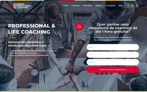 Screenshot of Home Page aicoaching.com.br - Academia Internacional de Coaching - captured Nov. 27, 2018
