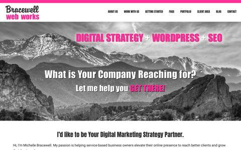 Screenshot of Home Page bracewellwebworks.com - Colorado Springs, Colorado Web Design | Wordpress Developer | SEO Services - captured Dec. 9, 2018