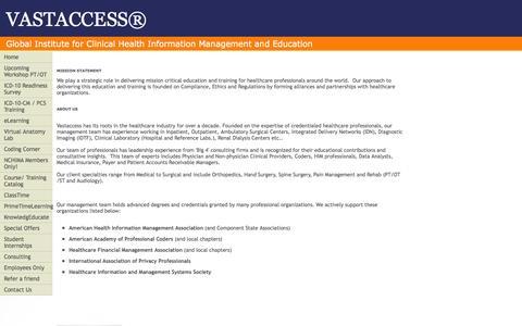 Screenshot of About Page vastaccess.net - VASTACCESS® - captured Oct. 9, 2014
