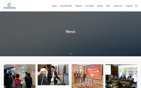 Screenshot of Press Page skymapglobal.com - News Archives – Skymap Global - captured Sept. 20, 2018