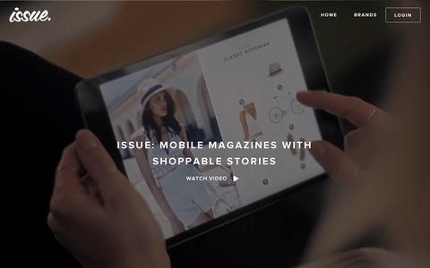 Screenshot of Home Page shop2.com - Issue App - Your Issue, Your magazine - captured Aug. 11, 2015