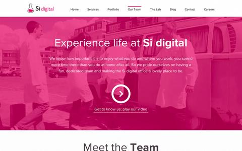 Screenshot of Team Page sidigital.co - We're a fun, close-knit team, who love to design and develop great things. - captured Sept. 19, 2014