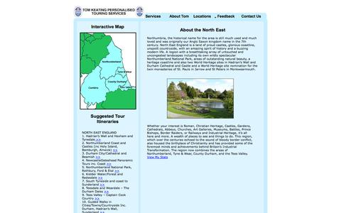 Screenshot of Locations Page tomkeating.net - Locations - captured Oct. 2, 2014