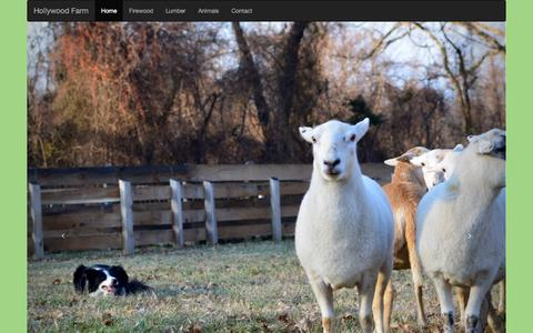 Screenshot of Home Page hollywoodfarm.com - Hollywood Farm - captured Oct. 8, 2015