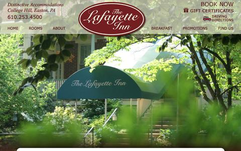 Screenshot of Site Map Page lafayetteinn.com - Site Map for Lafayette Inn - captured Feb. 25, 2016