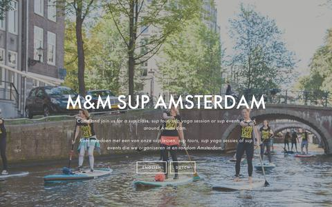 Screenshot of Home Page mm-sup.com - M&M Stand Up Paddle Amsterdam - captured Sept. 30, 2018