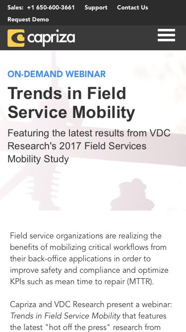 Connecting the Back-Office - Mobile-Enabled Field Teams | Capriza