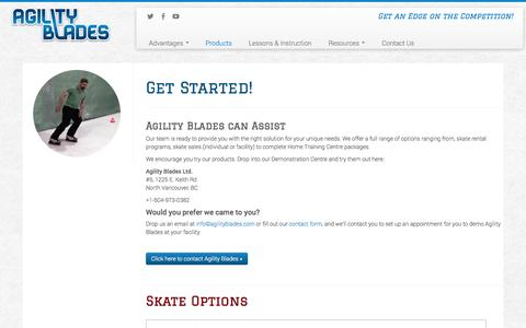 Screenshot of Products Page agilityblades.com - Shooting Instruction on Synthetic Ice | Agility Blades - captured Oct. 29, 2014