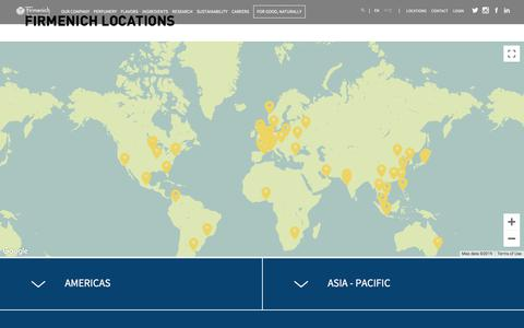 Screenshot of Locations Page firmenich.com - Firmenich - Locations - captured July 5, 2019