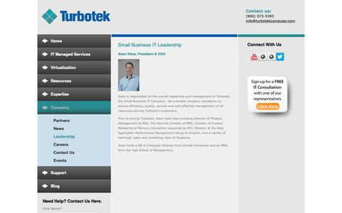 Screenshot of Team Page turbotekcomputer.com - Small Business IT Leadership - captured Nov. 16, 2018