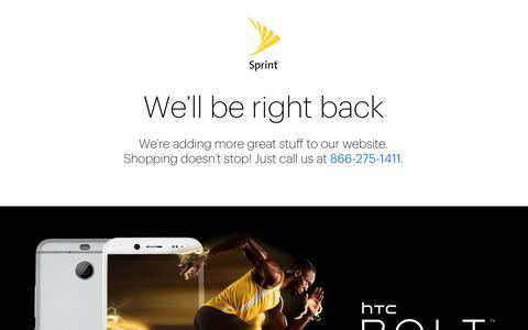 Screenshot of Login Page sprint.com - Sprint - captured Nov. 21, 2016