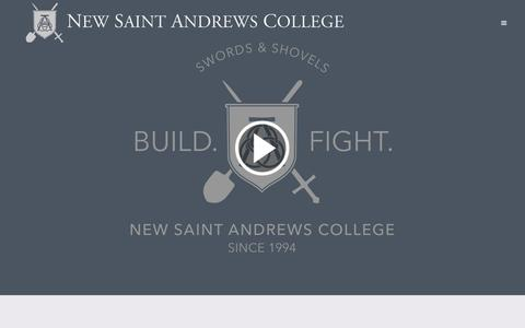 Screenshot of Home Page nsa.edu - New Saint Andrews College | - captured Sept. 4, 2015
