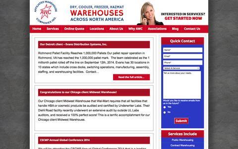 Screenshot of Blog awco.com - Blog - captured Oct. 4, 2014