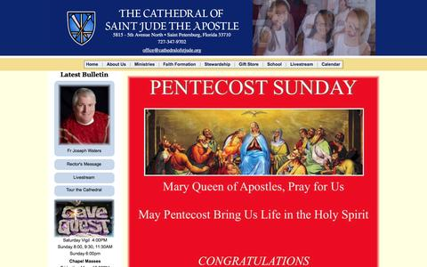 Screenshot of Home Page cathedralalive.org - The Cathedral of Saint Jude the Apostle - captured May 18, 2016