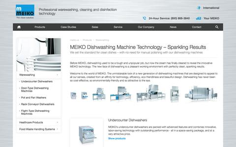 Screenshot of Products Page meiko.us - MEIKO has dishwashing machine solutions for all your challenges - Meiko - captured July 21, 2016