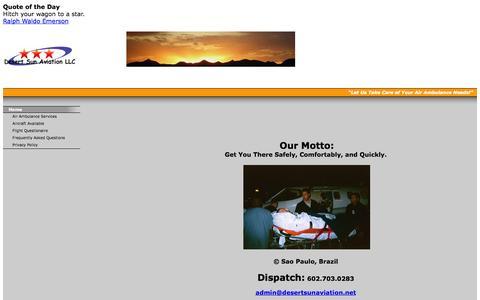 Screenshot of Home Page desertsunaviation.net - Desert Sun Aviation LLC - captured Oct. 5, 2014