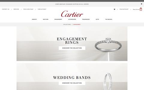 Engagement Rings: Classic Engagement Collection including wedding bands from Cartier