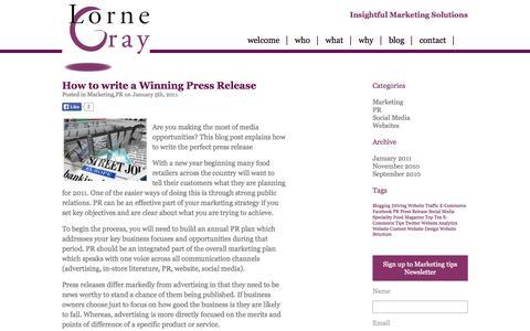 Screenshot of Blog lornegray.com - SME Marketing Agency Northampton| Social Media| Marketing Communications| Lorne Gray Marketing | Lorne Gray - captured Oct. 3, 2014