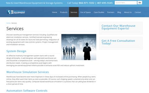 Screenshot of Services Page osequip.com - Warehouse Management Services | Warehouse Storage Solutions - captured Dec. 13, 2018