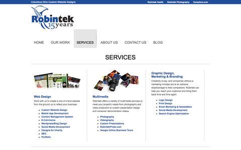 Screenshot of Services Page honestgolf.com - Services - Columbus Website Design - Robin Technologies - captured Sept. 30, 2014