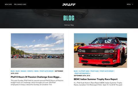 Screenshot of Blog pfaffauto.com - Blog - Pfaff Auto - captured Sept. 28, 2018