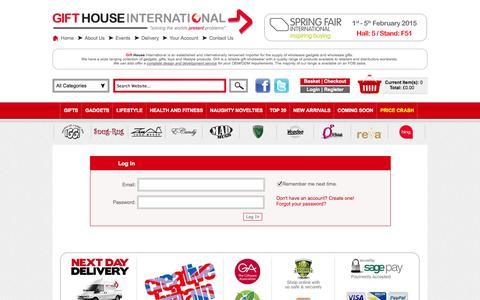 Screenshot of Login Page gifthouseinternational.com - Gift House International - captured Sept. 19, 2014