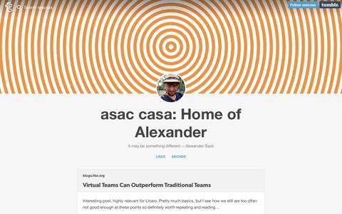 Screenshot of Team Page asac.ws - asac casa: Home of Alexander - captured June 14, 2016