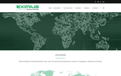 Screenshot of Locations Page eximiusdesign.com - Locations |  Eximius - captured July 13, 2018