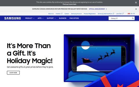 Screenshot of Home Page samsung.com - Samsung Canada   Mobile   TV   Home Appliances - captured Dec. 5, 2016