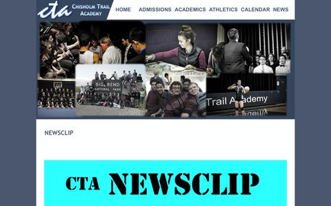 Screenshot of Press Page ctanet.org - CTA's Upcoming Events and News - captured June 10, 2016