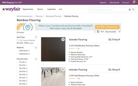 Screenshot of wayfair.com - Bamboo Wood Flooring You'll Love | Wayfair - captured June 1, 2017