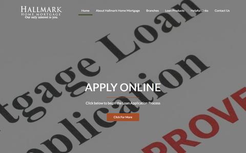 Screenshot of Home Page hallmarkhomemortgage.com - Hallmark Home Mortgage - captured May 13, 2017