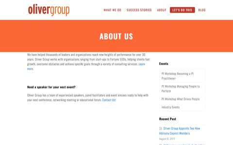 About Us - Oliver Group