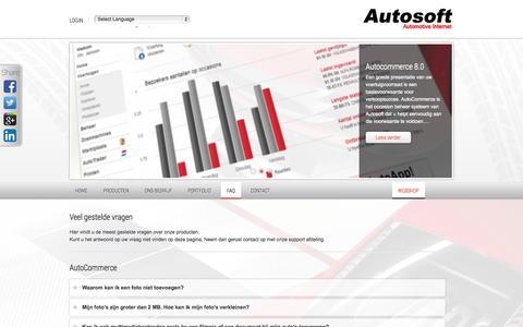 Screenshot of FAQ Page autosoft.eu - FAQ - Veelgestelde vragen | Autosoft - captured Sept. 19, 2014